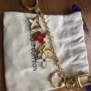 LV key chain bag charm